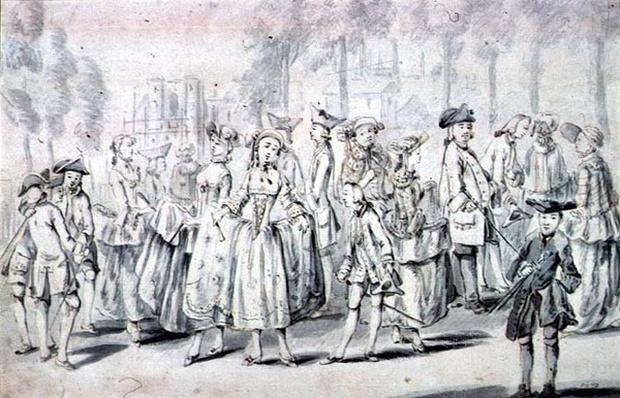 Promenaders in St.James's Park