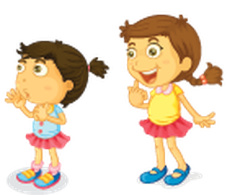 Different Actions of A Young Girl -05 | Clipart