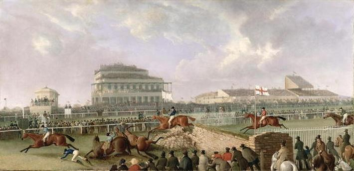 The Liverpool and National Steeplechase at Aintree 1843, c.1843