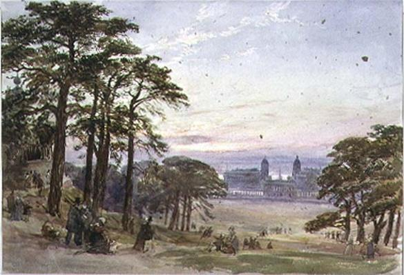 Greenwich Hospital from the Observatory, 19th century