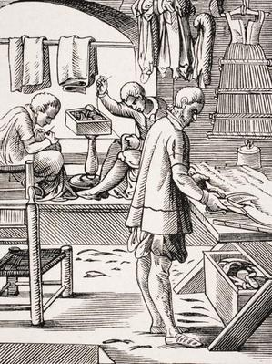 Tailor, reproduction of a woodcut by Jost Amman