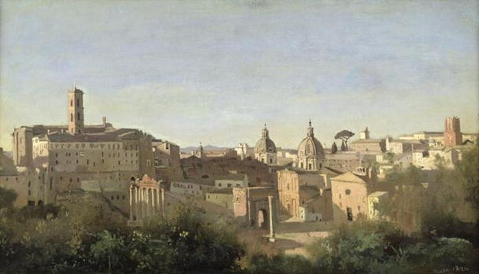 The Forum seen from the Farnese Gardens, Rome, 1826