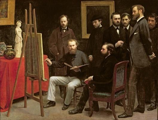 Studio at Batignolles, 1870