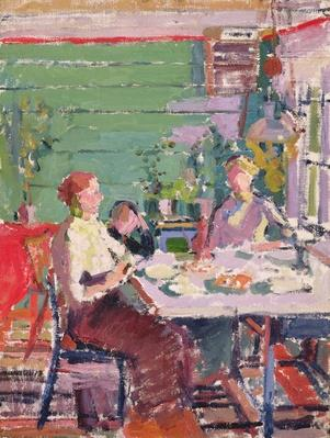 Interior scene, possibly in Norway, c.1912