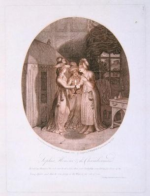 Sophia, Honour, and the Chambermaid, scene from 'Tom Jones' by Henry Fielding