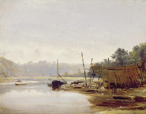 Boat Building near Dinan, Brittany, c.1838