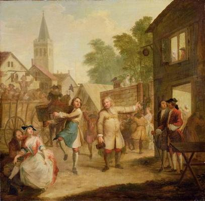 Hob Continues Dancing in Spite of his Father, c.1726