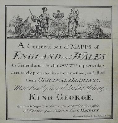 Title Page of 'A Compleat Sett of Mapps of England and Wales in General...', 1724