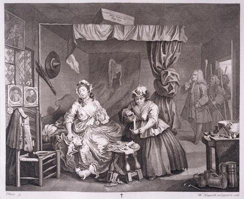 A Harlot's Progress, plate III, from 'The Original and Genuine Works of William Hogarth', published in London, 1820-22