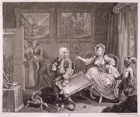 A Harlot's Progress, plate II, from 'The Original and Genuine Works of William Hogarth', published in London, 1820-22