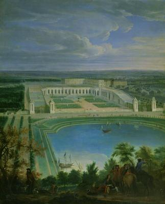 The Orangery and the Chateau at Versailles, 1696
