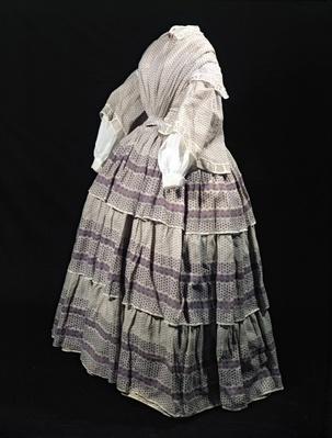 Crinoline dress, 1850-60