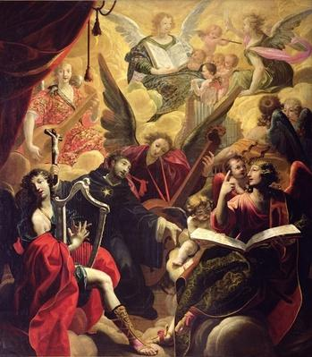 St. Nicholas of Tolentino with a Concert of Angels, 1650