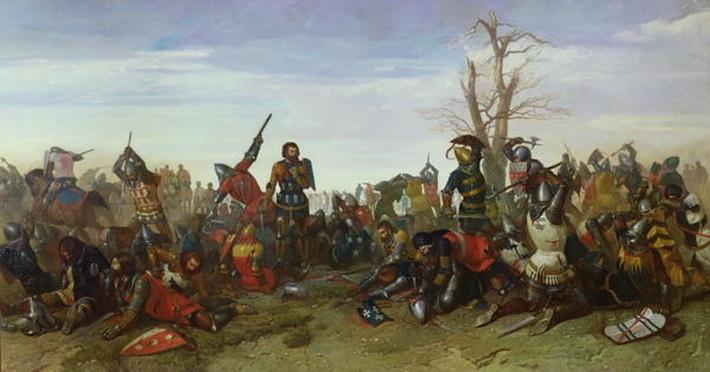The Battle of Trente in 1350, 1857