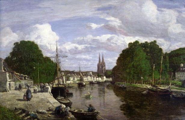 The Port at Quimper, 1857
