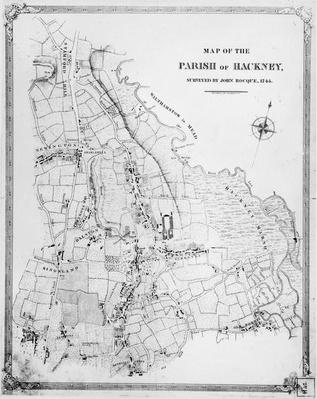 Map of the Parish of Hackney, surveyed by John Rocque