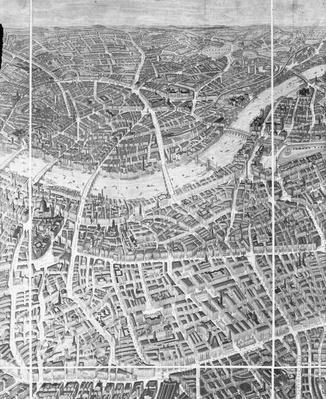 Balloon View of London, 1851