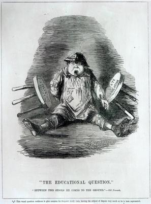 'The Educational Question', 1846, from 'Punch', published in 1864