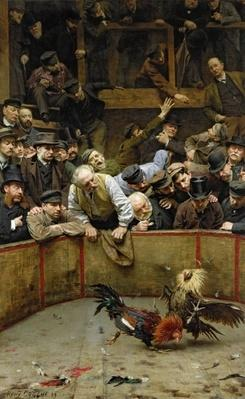 The Cockfight, 1889