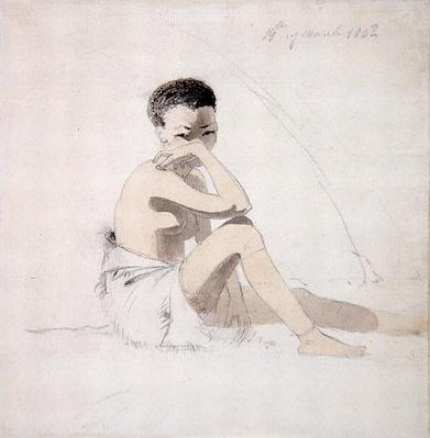 Korah Girl Seated, 1802