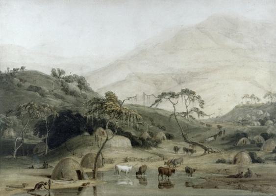 A Kaffir Village, c.1801