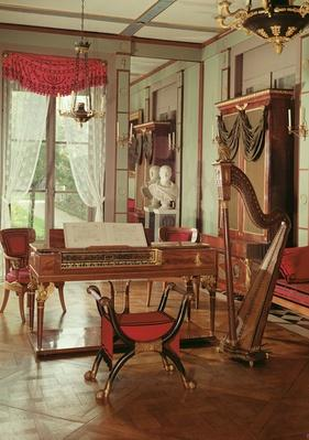 Interior of Empress Josephine's music room