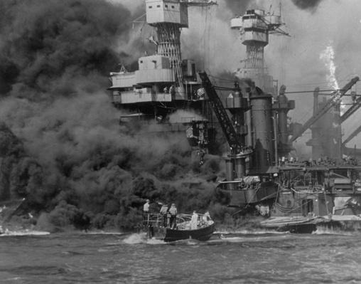 Ship Aflame | World War II