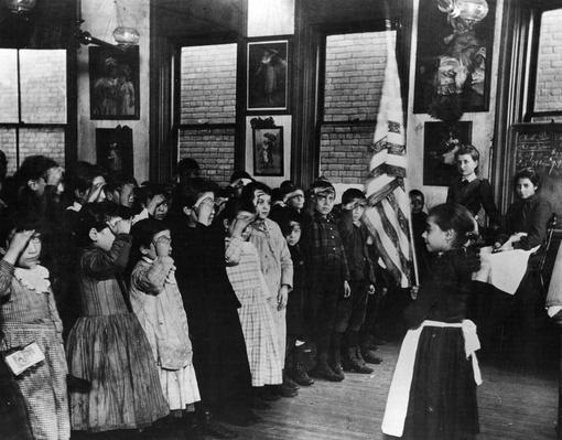 Saluting The Flag | U.S. Immigration | 1840's to present | U.S. History