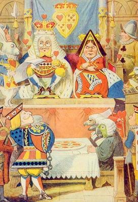The Trial of the Knave of Hearts, illustration from 'Alice in Wonderland' by Lewis Carroll