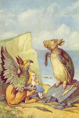 The Mock Turtle and the Gryphon, illustration from 'Alice in Wonderland' by Lewis Carroll