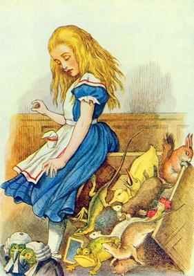 Alice Upsets the Jury-Box, illustration from 'Alice in Wonderland' by Lewis Carroll