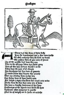 The Wife of Bath, illustration from Geoffrey Chaucer's