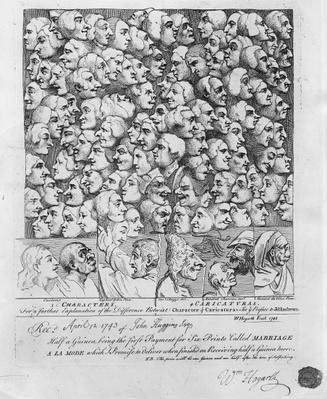 Characters and Caricatures, published in April 1743