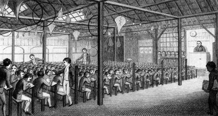 The Interior of the Royal Free School, Borough Road, 1805