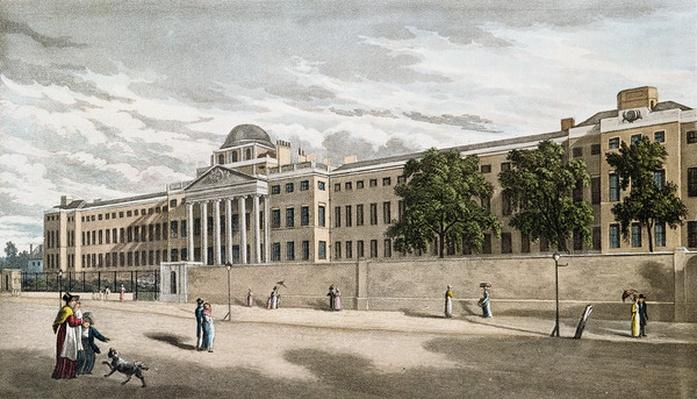 New Bethlem Hospital, St. George's Fields, engraved by Riley, 1817