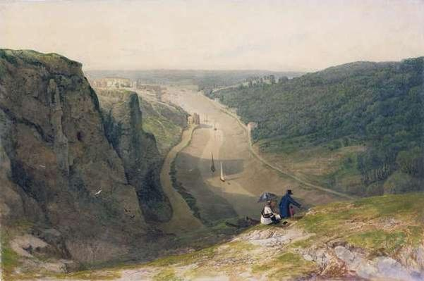 The Avon Gorge, looking over Clifton, c.1820