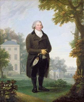 Gentleman in the Grounds of his House, c.1800-10