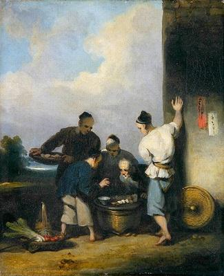 Coolies Round the Food Vendor's Stall, after 1825