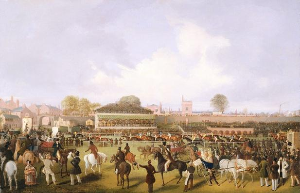 Lord Westminster's Cardinal Puff, with Sam Darling Up, Winning the Tradesman's Plate, Chester, c.1839