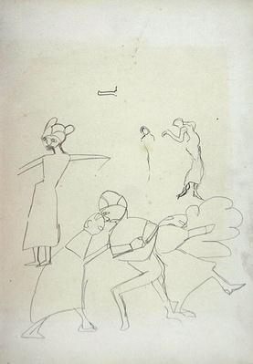 Study of Figures, for the Cave of the Golden Calf