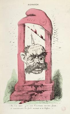Caricature of Otto von Bismarck