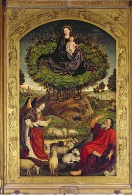 Madonna and Child, central panel from the Triptych of Moses and the Burning Bush, c.1476
