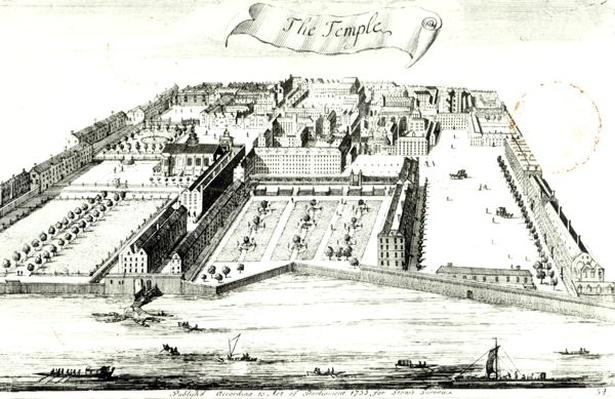 The Temple, illustration from 'A Survey of the Cities of London and Westminster' by John Stow, published in 1755