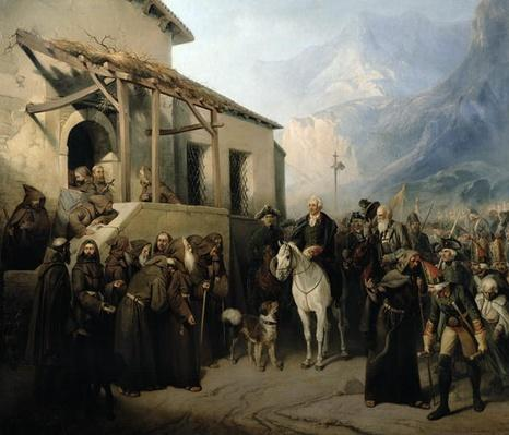 Field-marshal Alexander Suvorov on the St Gothard summit, 13th September 1799, 1855