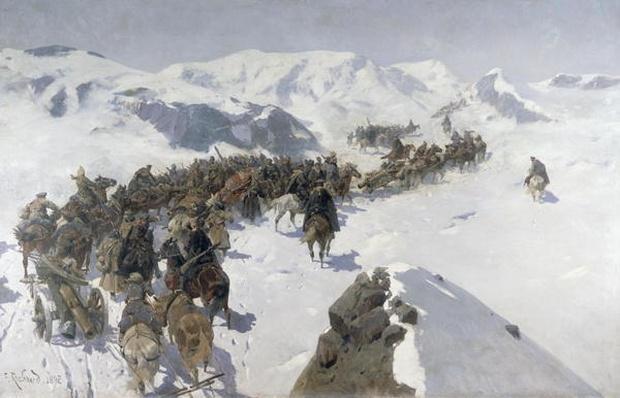 Count Argutinsky crossing the Caucasian Range, 1892