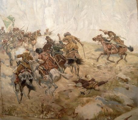Capturing of the aul Akhtulga