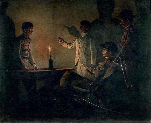 Interrogation of a deserter