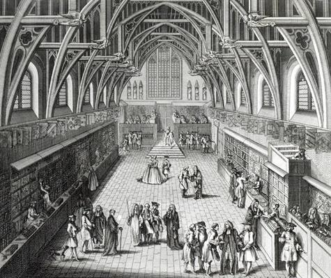 Westminster Hall, The First Day of Term, A Satirical Poem, 1797 engraved by C.Mosley