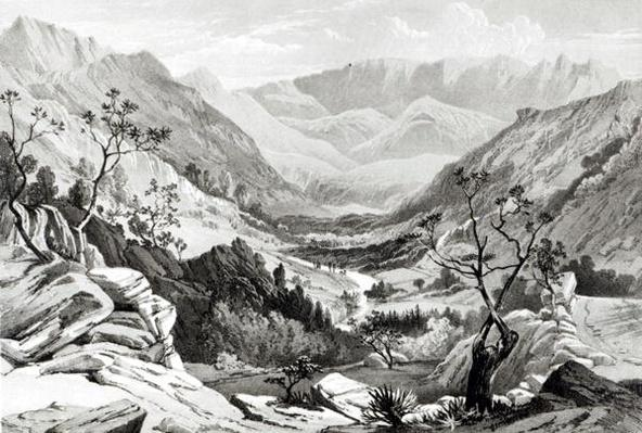View between Senafe and Rahaguddy engraved by James Ferguson