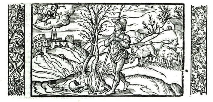 Month of January from a Shepherds calendar, 1579
